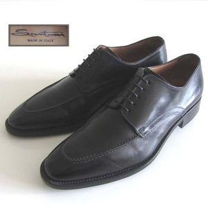 c34bd80b3356 SANTONI Breden black moc toe derby shoes 9 oxfords. SANTONI Breden black  moc toe derby shoes 9 oxfords.  330.00  635.00. Santoni men s leather lace  ups